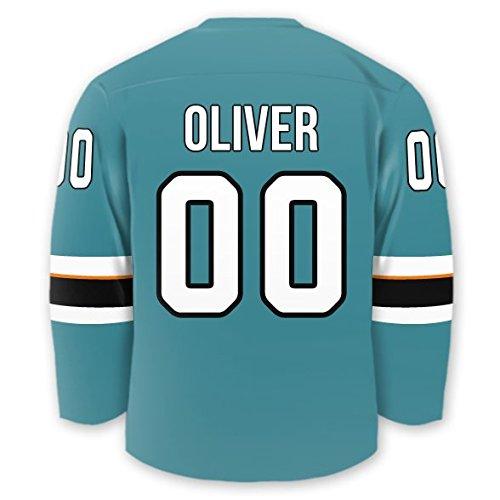 Personalized Hockey Jersey Stick-on Labels (San Jose)