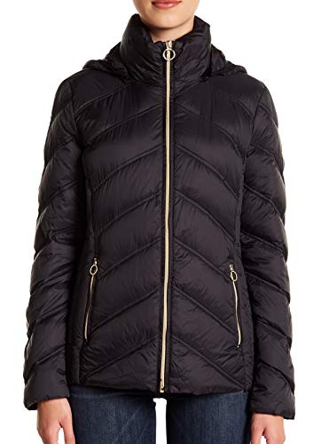 - Michael Michael Kors Women's Zip Front Short Packable M823478GKA Black Medium