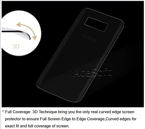 Ultra-Thin 3D Round Edge Durable Transparent Anti-Bubble Shatterproof Back Tempered Glass Screen Protector for Samsung Galaxy S8 SM-G950U Xfinity Mobile