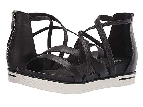 (Eileen Fisher Women's Skip Black Washed Leather 7 B US )