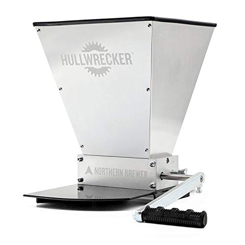 Hullwrecker 2-Roller Grain Mill with Metal Base for All-Grain Home Beer Brewing