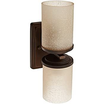 Forte Lighting 2424-02-32 Wall Sconce with Umber Linen Glass Shades Antique  sc 1 st  Amazon.com & Forte Lighting 2424-02-32 Wall Sconce with Umber Linen Glass ... azcodes.com