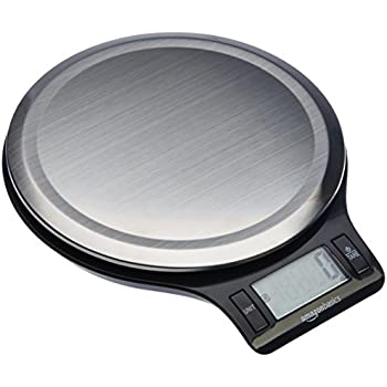 amazon com amazonbasics stainless steel digital kitchen scale with