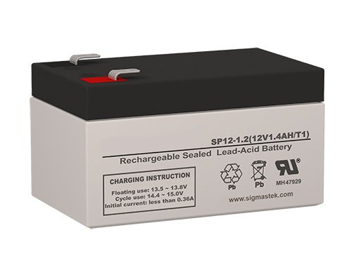 O'Brien/KMI KM60, KM70, KM80 Pump Replacement Battery - 12 Volt 1.2 AH F1 terminal By SigmasTek