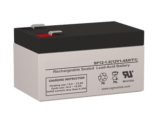 IBT Technologies BT1.3-12 Replacement Battery - 12 Volt 1.2 AH F1 Terminal by SigmasTek