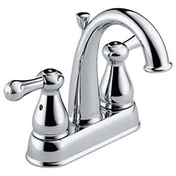 Exceptional Delta Faucet 2575LF MPU Leland, Two Handle Centerset Bathroom Faucet, Chrome