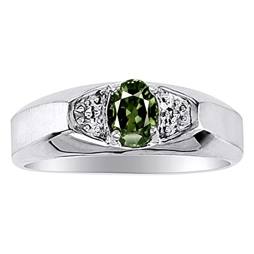 Exotic Green Sapphire Ring set in 14K Yellow or 14K White Gold