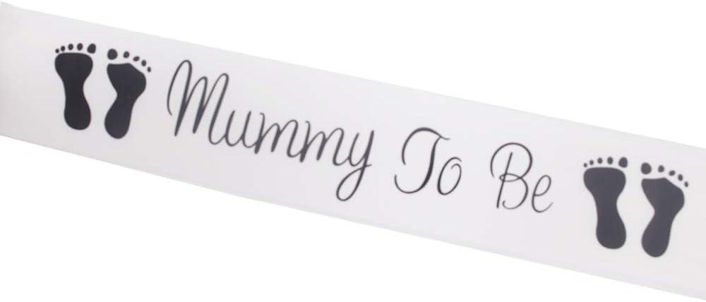 Bianco Mommy To Be Sash Celebrando i Regali di Gravidanza Accessori di Feste Decorazioni per Baby Shower LINVINC Fascia di Futura Mamma