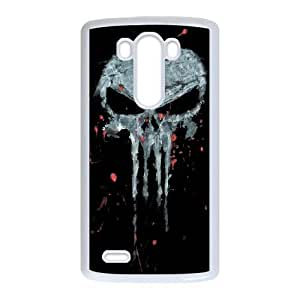 LG G3 Phone Cases White Bloody The Punisher Skull Logo CXS073505