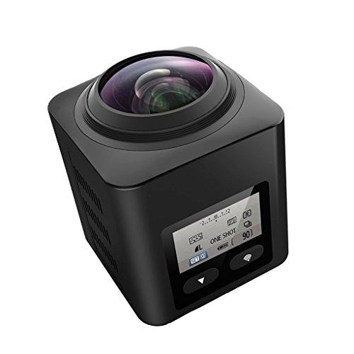 SEREE Ultra HD 4.0K 360 Degree Action Waterproof Panoramic Sport DV Camera Multi-mode WIFI VR Camera(Black) ()