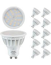 Aiwode 5 W GU10 LED-lampen, natuurlijk wit, 4000 K, komt overeen met 50 W, niet dimbaar, 500 lm RA85, 120 ° kijkhoek, 10 stuks.