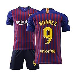FNBA Fútbol Club Barcelona Extérieur Domicile Suarez # 9 Enfants Maillot et Short de Foot Jeunes, Costume Athletic Apparel Vêtements pour hommes-1-4SX