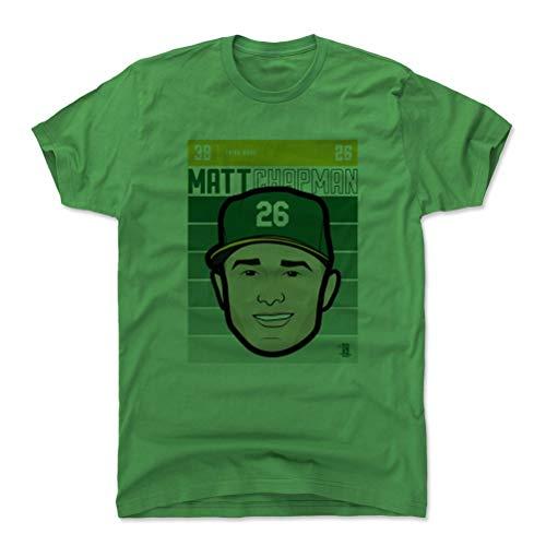 500 LEVEL Matt Chapman Cotton Shirt Large Kelly Green - Oakland Baseball Men's Apparel - Matt Chapman Oakland Fade