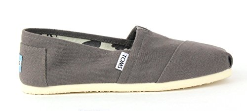 TOMS Women's Classic Canvas Slip-On,Ash,6.5 M US