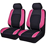 NEW ARRIVAL Car Seat Covers Black Pink For Women Girls Two Front Faux Leather Universal