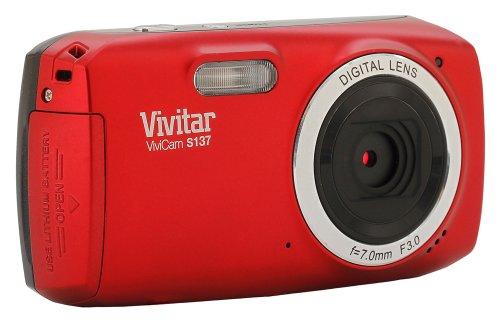 Vivitar 16.1MP Digital Camera with 3-Inch TFT (VS137-RED-BOX-ESP) by Vivitar