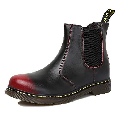 Brogue Martin Desert Red Chelsea Stivali Boots Da Uomo Formale In Pelle Classic wYOTH