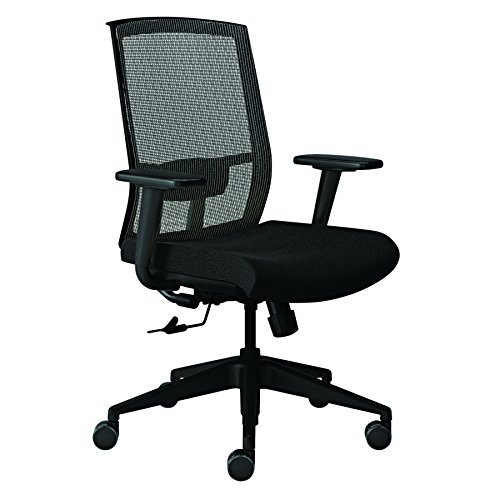 Safco Products GS22SVRBLK Gist Chair, Black/Silver - Mayline Task Light