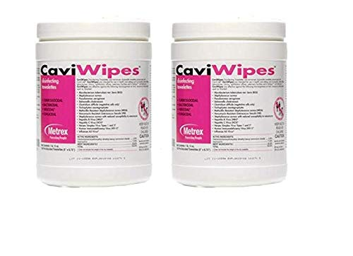 CaviWipes Metrex Disinfecting Towelettes Canister Wipes, 160 Count (2-Pack) by CaviWipes (Image #2)