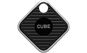 Cube Pro Key Finder Smart Tracker Bluetooth Tracker for Dogs, Kids, Cats, Luggage, Wallet, with app for Phone, Replaceable Battery Waterproof Tracking Device