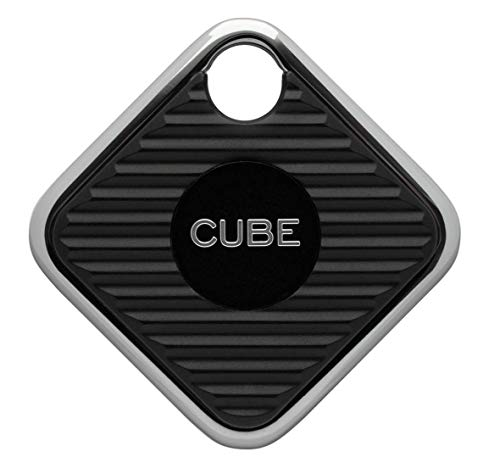 Cube Pro Key Finder Tracker 2X Volume and Range Replaceable Battery Phone Locator -