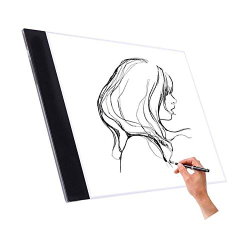 A4 LED Light Pad, Ultra-Thin LED Tracing Light Box, USB Interface Portable LED Drawing Board for Artist,Painting Calligraphy Sketching,Animation ,Tattoo by Newpurslane
