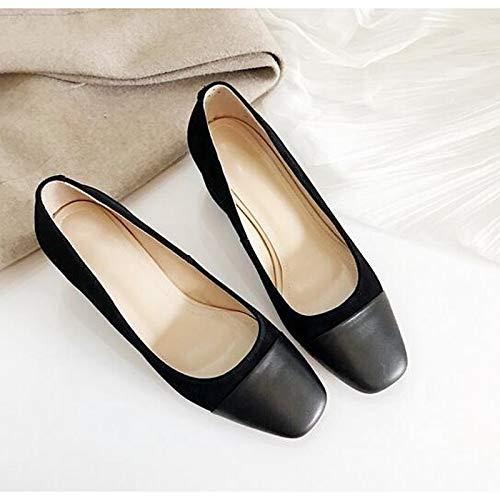 Noir ZHZNVX Chaussures Femme Daim Printemps Confort Talons Chunky Heel Noir Marron Ahommede 36.5 EU