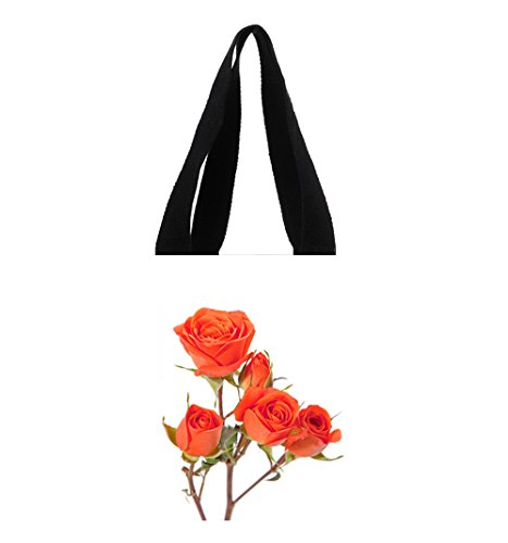 Orange Spray Roses - Orange Spray Roses Custom Beautiful Canvas Tote Bag Art Print Twin Sides