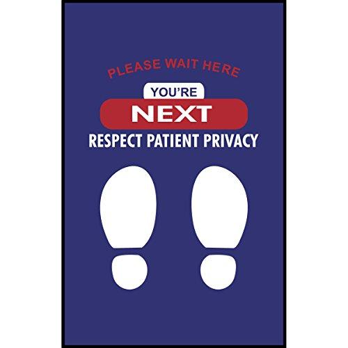 Patient Privacy Wait Here Floor Mat 2x3