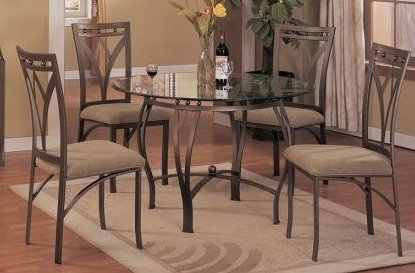 Stylish Glass U0026 Metal Dining Table