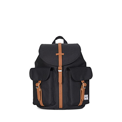 herschel-supply-co-dawson-womens-backpack-black-tan-synthetic-leather