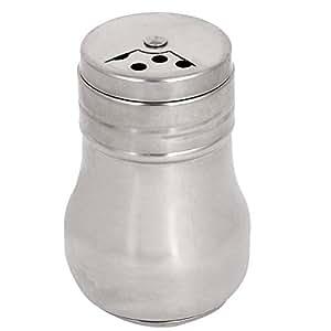 Stainless Steel Home Kitchen Cruet Salt Pepper Shaker Condiment Bottle