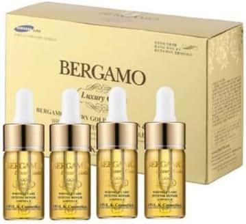 Bergamo Bergamo luxury gold caviar ampoule 4-piece gift set all skin type, 4 Count