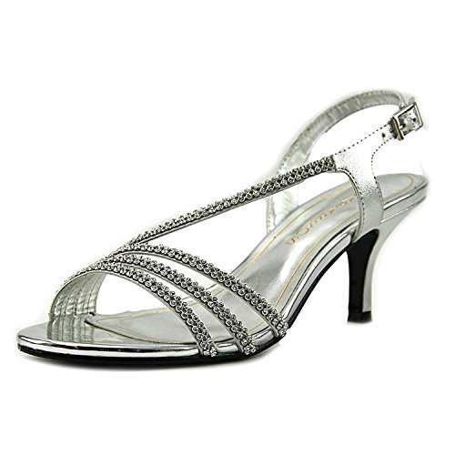 Caparros Womens Bethany Open Toe Special Occasion, Silver Metallic, Size 5.5
