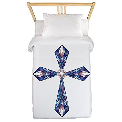 Twin Duvet Cover Stained Glass Cross by Truly Teague