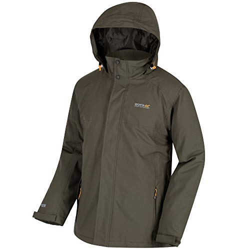 Waterproof Hackber Veste Hooded Kaki Insulated Breathable Regatta Homme And A57BwSwxq