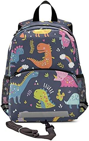 Kid's Toddler Backpack Lovely Dino Schoolbag Safety Leash for Boys Girls, Cute Dinosaurs Animals Kindergarten Children Bag Preschool Nursery Travel Bag Chest Clip Reflective Stripe