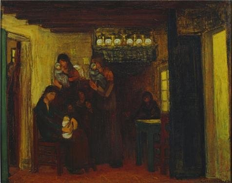 Perfect Effect Canvas ,the High Definition Art Decorative Prints On Canvas Of Oil Painting 'Maternity Visit, 1920 By Albert Servaes', 16x20 Inch / 41x51 Cm Is Best For Home Office Gallery Art And Home Decor And Gifts for $<!--$21.97-->