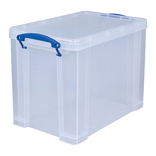 Really Useful Box(R) Plastic Storage Box, 19 liters, 14 1/2in. x 10 1/4in. x 11 1/8in, Clear