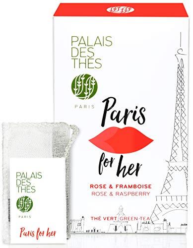 (Palais des Thés Paris for Her, Green Tea with Rose and Raspberry, 20 Tea Bags)