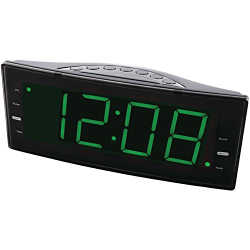 NAXA Electronics NRC-166 Easy-Read Dual Alarm Clock with Jum