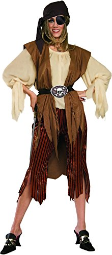 [New Womens Swashbuckler Caribbean Pirate Babe Costume] (Sally Brown Costume)