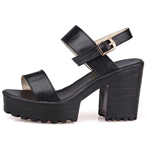 Plateforme Sandales Mode Talons black Bloc 1 Melady Femmes PEwpaa