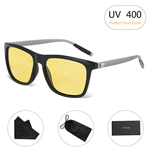 HD Night Vision Glasses RAYSUN Rain Day Safety Polarized Driving - Driving Night Sunglasses