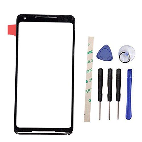 General Outer Screen Front Glass Lens Replacement for HT C Google Pixel 2 XL / 2XL G011C 6 (Black)