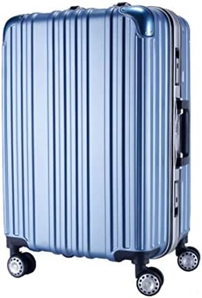 Liufeilong Trolley Universal Wheel Aluminum Frame 360 Degree Mute Caster Luggage Student Color : Blue, Size : L