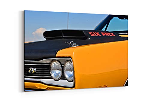 1969 Dodge Super Bee Hemi Muscle Old Classic Original USA 09 - Canvas Wall Art Gallery Wrapped 26