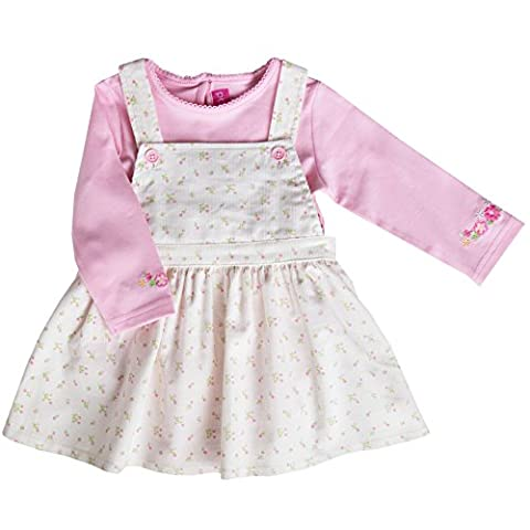 Good Lad Newborn/Infant Girls Creme Floral Print Corduroy Jumper Set (12M) - Corduroy Jumper Dress Set