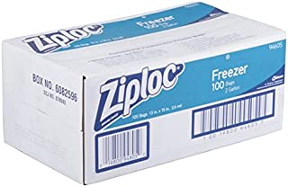 product image for Ziploc Commercial Resealable Freezer Bag, Zipper, 2 gal, 13 x 15-1/2, Clear