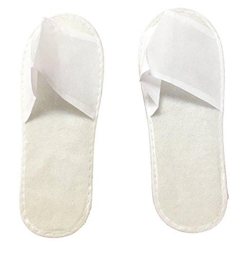 25x PAAR Flies Patschen Pantoffeln Schuhe WEISS Slipper Universal Größe - OPEN Toe - passend fuer Frau Mann Kinder